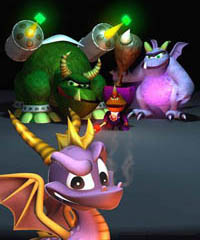 Spyro, Gulp, Ripto and Crush