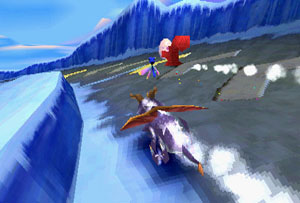 Spyro chases an Icy Peaks thief